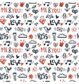 doodle romantic hand drawn seamless pattern vector image vector image