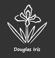 douglas iris plant chalk icon california blooming vector image vector image