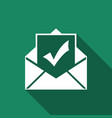 envelope with document and check mark icon vector image vector image