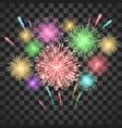 festival fireworks colorful carnival fireworks vector image vector image
