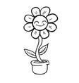 flower black vector image vector image