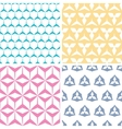 Four abstract geraldic geometric pink seamless vector image vector image