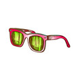 glasses stylish protect accessory color vector image vector image