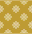 golden vintage decor seamless pattern vector image