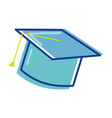 graduation cap tool to traditional ceremony vector image