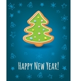 Greeting card with Happy New Year inscription and vector image vector image