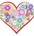 Heart of gear vector image