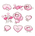 Heart Shaped Cloud Collection vector image