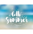 Hello summer text Positive vector image