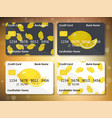 lemon on frontal side of credit card vector image vector image