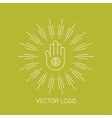 Line design hand logos and icons elements for vector image vector image