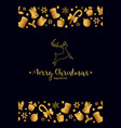 merry christmas decoration for holiday vector image vector image