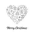 merry christmas heart creative minimal vector image