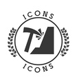 mining icon vector image