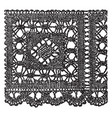 modern pillow lace border is a form of textile vector image vector image