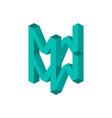 mw logo monogram vector image