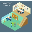 Office work Isometric flat 3d about office staff vector image vector image