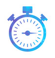 polygon blue icon stopwatch vector image vector image