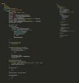 program code listing abstract programming vector image