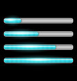 progress loading bar with lighting vector image vector image