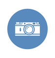 rangefinder camera icon placed on blue circle vector image vector image