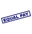 rectangle grunge equal pay stamp vector image