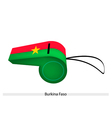 Red and Green Stripe on Burkina Faso Whistle vector image