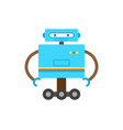 robot of blue color with hands vector image