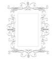 Romantic square frame hand drawn vector image