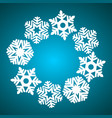 round banner with snowflakes decoration vector image
