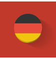 round icon with flag germany vector image