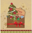 Scrapbook Christmas greeting card vector image vector image