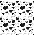 seamless pattern heart love vector image
