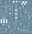 seamless pattern with passenger airplanes vector image vector image