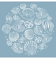 Seashell round design element vector image