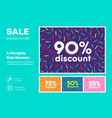 set modern colorful poster banner flyer vector image vector image
