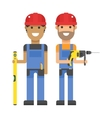 Set of professional engineering workers people vector image