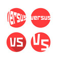set of red versus icon vector image vector image