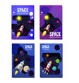 set of space template space travel exploration vector image vector image