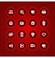 set valentines day icons love on the internet symb vector image vector image