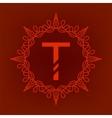 Simple Monogram T vector image vector image