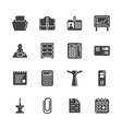 Solid icon set - office workspace vector image vector image