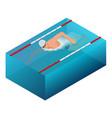 sportsman swim line race indoor interior vector image