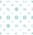 tapes icons pattern seamless white background vector image vector image
