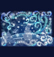 the template of ice pattern or festive christmas vector image vector image