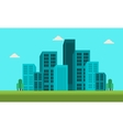 Town skyline landscape of silhouette vector image