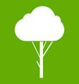 tree icon green vector image vector image