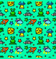 ufo seamless pattern vector image vector image