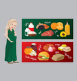 useful and harmful foods during pregnancy vector image vector image