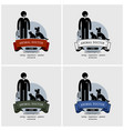 veterinarian clinic logo design artwork an vector image